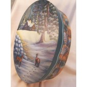 Snow Bound Oval Bentwood Box Packet