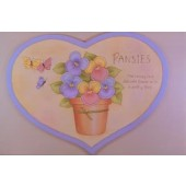 Pansies Wood Heart Packet, Marlene Kreutz