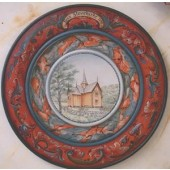 Triple Beaded Plate with Numedal Rosemaling, Gayle Oram Packet