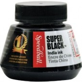 Super Black India Ink, 2 oz., Speedball