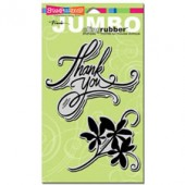 Thank You, Jumbo Cling Rubber Stamp
