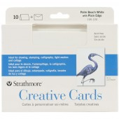 Strathmore Creative Cards - 10 Palm Beach White with Plain Edge Cards and Envelopes