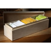 Wood Tea Box with Dividers
