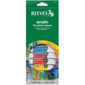 Reeves Acrylic Color Set of 12 Tubes