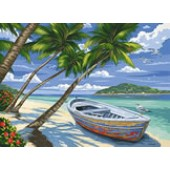 Reeves Senior Acrylic Paint by Numbers - Tropical Beach